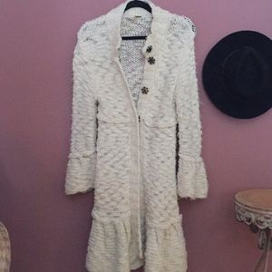 Free People Heavy Ivory Cardigan